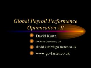 Global Payroll Performance Optimisation - II