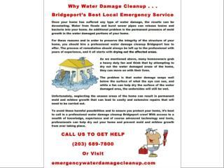 Bridgeport's Emergency Water Damage Cleanup