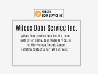Wilcox Door Service Inc.