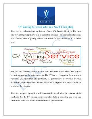 CV Writing Services India, Professional CV Writer
