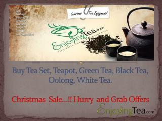 Christmas sale at EnjoyingTea.com