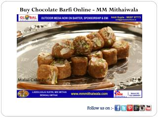 Buy Chocolate Barfi Online - MM Mithaiwala