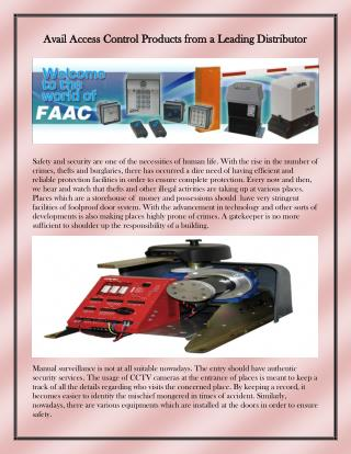 highly advanced and dynamic faac motors
