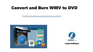 Convert and burn wmv to dvd