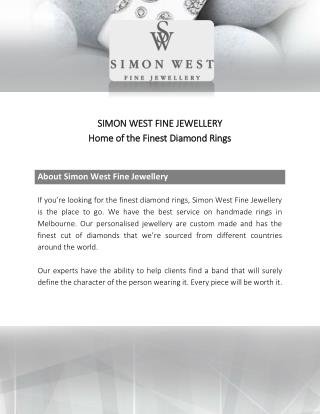Stunning Diamond Jewellery by Simon West Fine Jewellery