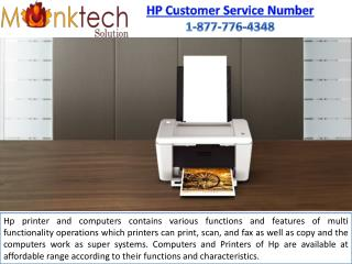 HP Customer Service Number 1-877-776-4348