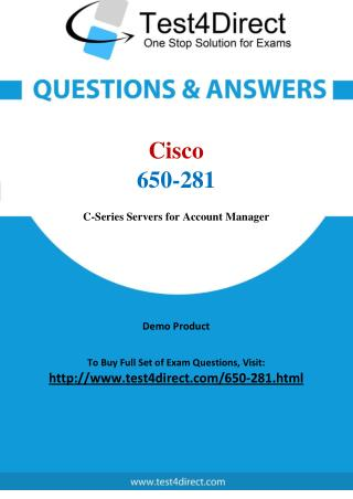 Cisco 650-281 Test - Updated Demo