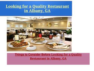 Best Restaurants of Albany Ga For Lunch
