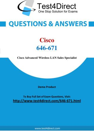 Cisco 646-671 Exam - Updated Questions