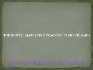 Top digital marketing coaching in chandigarh