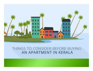 Things to Consider Before Buying an Apartment in Kerala