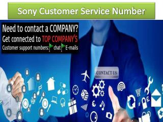 Sony Customer Service number for USA and Canada