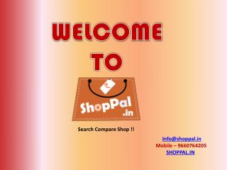 Shoppal.in - Best Price comparison & Coupons website in India for Online Shopping