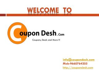Online shopping offers, Coupons and Best Prices | Coupondesh.com