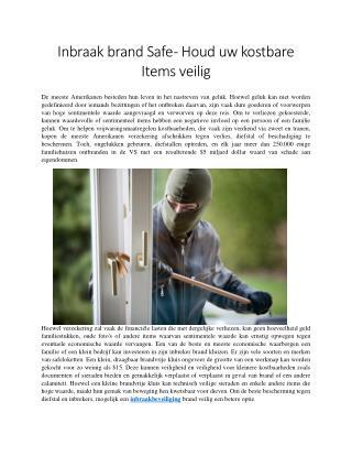 Inbraak brand Safe - Houd uw kostbare Items veilig