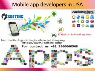 mobile app developers in USA