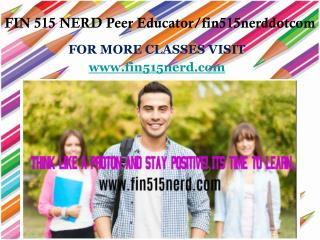 FIN 515 NERD Peer Educator/fin515nerddotcom