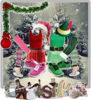 Santa & Elf Running Costumes
