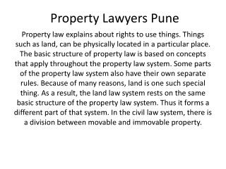 Property Lawyers Pune