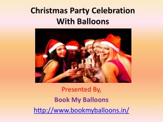 Christmas Party Celebration With Balloons