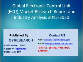 Global Electronic Control Unit (ECU) Market 2015 Industry Development, Research, Trends, Analysis  and Growth