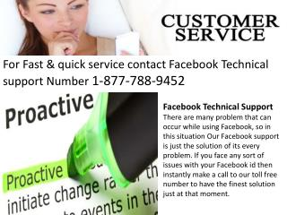 Quality Services & Solution @ Facebook Support Number 1877788(9452)