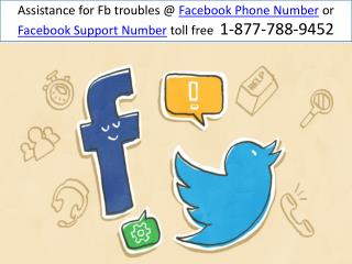 Customer Support @ Facebook Phone Number  1-877-788-9452