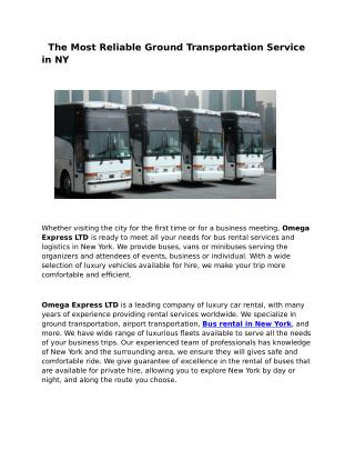 Bus Charter Staten Island