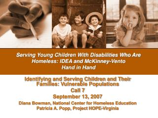 Serving Young Children With Disabilities Who Are Homeless ...