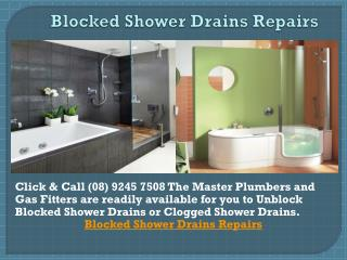 Blocked Shower Drains repairs