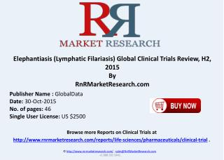 Elephantiasis-Lymphatic Filariasis Global Clinical Trials Review H2 2015