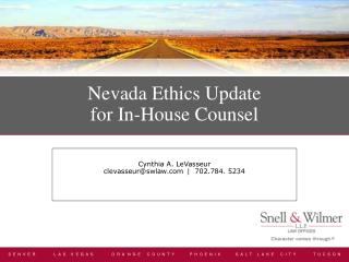 Nevada Ethics Update for In-House Counsel