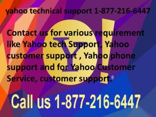 yahoo technical support 1-877-216-6447