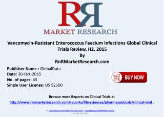 Vancomycin-Resistant Enterococcus Faecium Infections Global Clinical Trials Review H2 2015