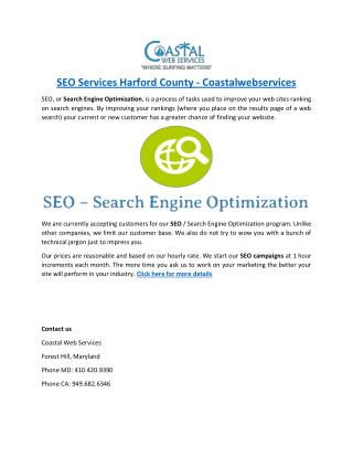 SEO Services Harford County - Coastalwebservices
