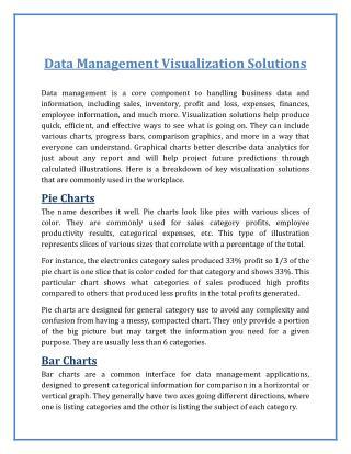 Data Management Visualization Solutions