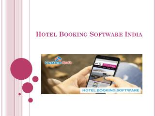 Hotel booking software india