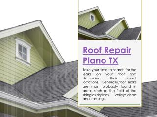 Emergency Roof Repair Plano TX