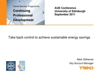 Take back control to achieve sustainable energy savings