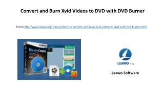 Convert and burn xvid videos to dvd with dvd burner