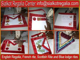 French rite Craft regalia apron