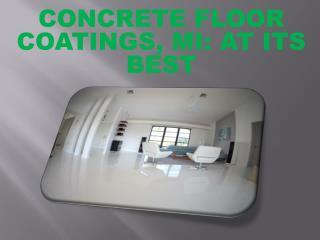 Concrete Floor Coatings Mi