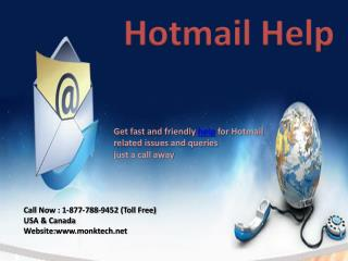 Get Best Help for Hotmail Call Hotmail help number 1-877-788-9452 tollfree