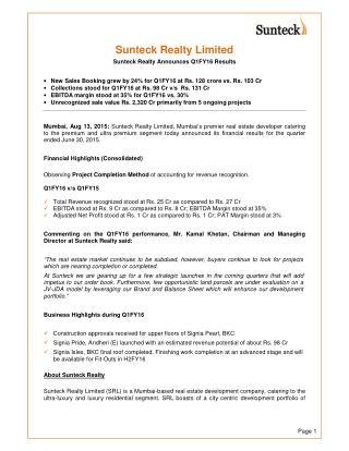 Sunteck Realty - Premier Real Estate Developer in Mumbai