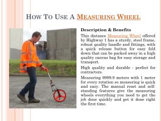 How To Use A Measuring Wheel