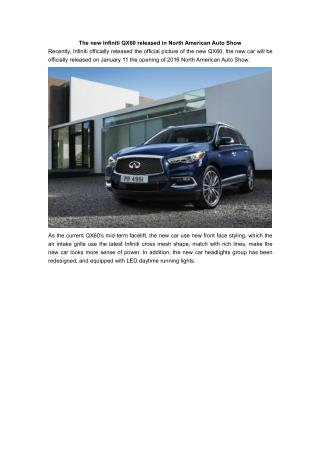 The new Infiniti QX60 released in North American Auto Show