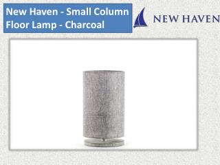 New Haven - Small Column Floor Lamp - Charcoal