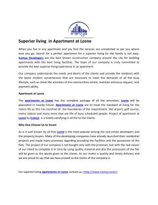 Apartment in L Zone- iramya.com