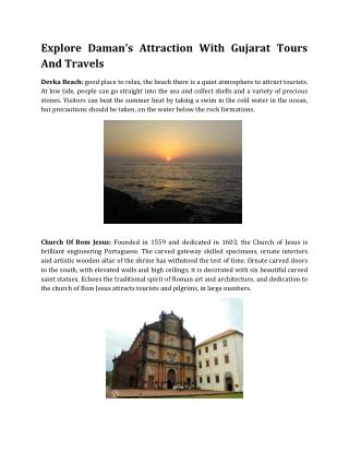 Explore Daman�s Attraction With Gujarat Tours And Travels