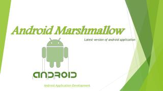 Android marshmallow Application Development companies